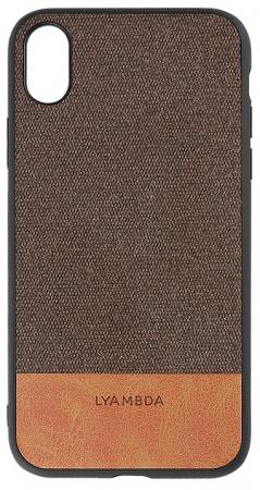 Накладка Lyambda Calypso для iPhone XS Max коричневый LA03-CL-XSM-BR чехол клип кейс lyambda calypso для iphone xs max la03 cl xsm br brown