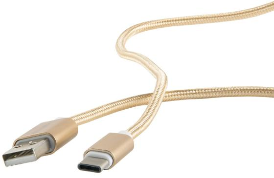 Фото - Кабель Type-C 1м Red Line УТ000011691 круглый золотистый кабель type c 1 2м hoco u56 круглый золотистый