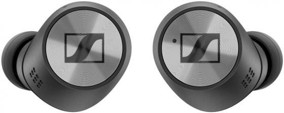 Гарнитура вкладыши Sennheiser Momentum True Wireless M3IETW черный/серебристый беспроводные bluetooth в ушной раковине (508524) наушники беспроводные sennheiser m3ietw2 momentum true wireless 2 white