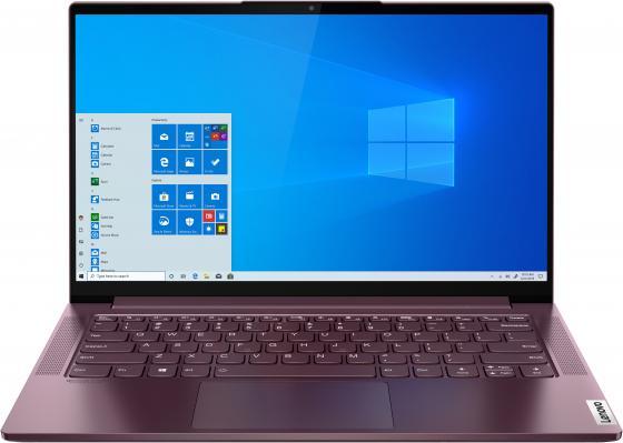 Фото - Ноутбук Lenovo Yoga Slim7 14IIL05 Core i7 1065G7/16Gb/SSD512Gb/Intel Iris Plus graphics/14/IPS/FHD (1920x1080)/Windows 10/red/WiFi/BT/Cam ноутбук lenovo ideapad ip5 15iil05 core i3 1005g1 8gb ssd512gb intel uhd graphics 15 6 ips fhd 1920x1080 windows 10 grey wifi bt cam