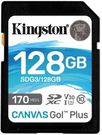 Фото - Флеш карта SD 128GB Kingston SDXC Class 10 UHS-I U3 V30 Canvas Go Plus 170MB/s флеш карта sd 128gb kingston sdxc class 10 uhs i u3 v30 canvas go plus 170mb s