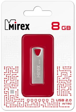 Фото - Флеш накопитель 8GB Mirex Intro, USB 2.0, Металл флеш накопитель hoco ud6 8gb