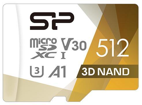 Фото - Флеш карта microSD 512GB Silicon Power Superior Pro A1 microSDXC Class 10 UHS-I U3 Colorful 100/80 Mb/s (SD адаптер) карта памяти 128gb silicon power microsd class 10 superior sp128gbstxda2v20sp с адаптером sd