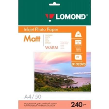 Фото - Фотобумага LOMOND 240 г/м2 односторонняя матовая Warm A4 50л наклейки lomond а4 65 частей 70г м2 50л 38ммх21 2мм 2100215 матовая белая