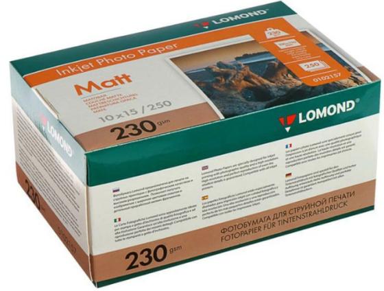 Фото - Фотобумага LOMOND Односторонняя Матовая для струйной печати, A6, 230 г/м2, 250 листов фотобумага lomond 100x150 180g m2 матовая односторонняя 50 листов 102063
