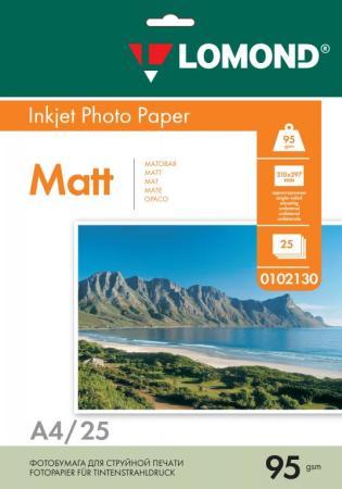 Фото - Фотобумага LOMOND Односторонняя Матовая, 95г/м2, A4 (21X29,7см)/25л. для струйной печати. бумага lomond a4 230г кв м односторонняя матовая 0102050 25л