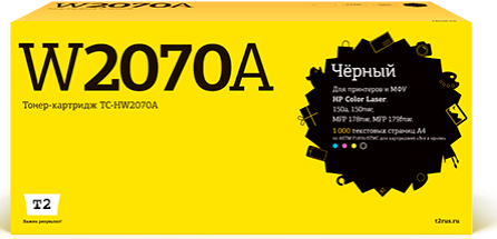 Фото - TC-HW2070A Картридж T2 для HP Color Laser 150a/150nw/MFP 178nw/MFP 179fnw (1000 стр.) черный, с чипом картридж t2 tc x6000m для phaser 6000 6010 wc6015 1000 стр пурпурный с чипом