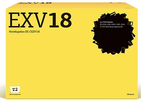 Фото - DC-CEXV18 Фотобарабан T2 для Canon iR-1018/1020/1022/1023/1024 (27 000стр.) картридж nv print nv cexv18 для для canon ir 1018 1020 1022 1023 1024 8400стр черный
