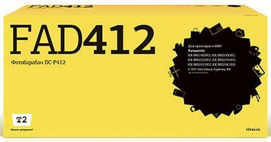 Фото - DC-P412 Фотобарабан T2 для Panasonic KX-MB1900RU/2000RU/2020Ru/2030RU/2051RU/2061RU (6000стр.) тонер картридж easyprint kx fat411a для panasonic kx mb1900ru 2000ru 2051ru 2000стр