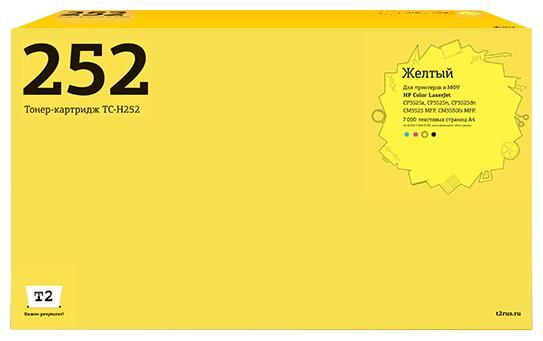 Фото - TC-H252 Картридж T2 для HP CLJ CP3525n/CM3530 (7000 стр.) желтый, с чипом, восстановленный картридж hi black для hp ce310a clj cp1025 1025nw prom175 черный с чипом 1200стр