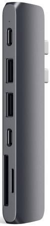 Концентратор USB Type-C Satechi ST-CMBPM HDMI 3 x USB 2.0 USB Type-C microSD SD серый разветвитель usb type c hama aluminium 00135759 sd sdhc microsd usb type c 2 х usb 3 0 серебристый