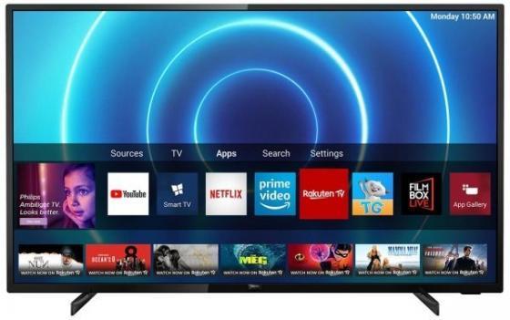Фото - Телевизор LED 58 Philips 58PUS7505/60 черный 3840x2160 50 Гц Wi-Fi Smart TV RJ-45 S/PDIF телевизор led 39 yuno ulx 39tcs221 ru черный 1366x768 50 гц smart tv wi fi vga rj 45