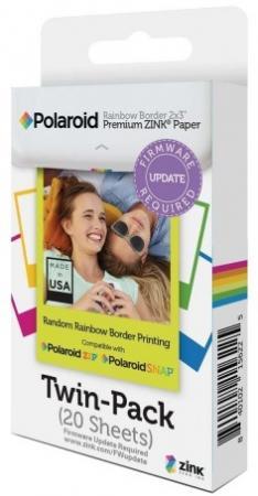 Фото - Фотобумага для принтеров и фотокамер Polaroid. Размер 5,08x7,62 см. Кол-во 20 штук. чехол polaroid для pic 300 темно коричневый