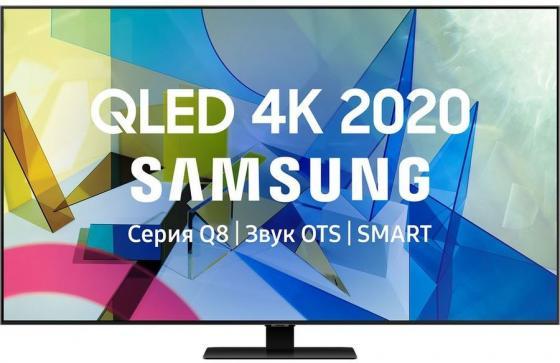 Фото - Телевизор QLED Samsung 50 QE50Q80TAUXRU Q черный/Ultra HD/50Hz/DVB-T2/DVB-C/DVB-S2/USB/WiFi/Smart TV (RUS) qled телевизор samsung qe50q80tauxru 50 ultra hd 4k