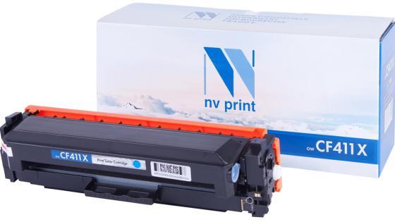 Фото - Картридж NVP совместимый NV-CF411X Cyan для HP Color LaserJet Pro M377dw/ M477fdn/ M477fdw/ M477fnw/ M452dn/ M452nw (5000k) тонер картридж static control 002 01 sf410x cf410x черный 6500стр для hp hp clj pro m452dn m452dw m477fdn m477fdw