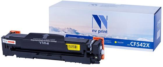 Картридж NVP совместимый NV-CF542X Yellow для HP Color LaserJet Pro M254dw/ M254nw/ M280nw/ M281fdn/ M281fdw (2500k) картридж nv print nv cf542a для hp color laserjet pro m254dw m254nw mfp m280nw m281fdn m281fdw yellow