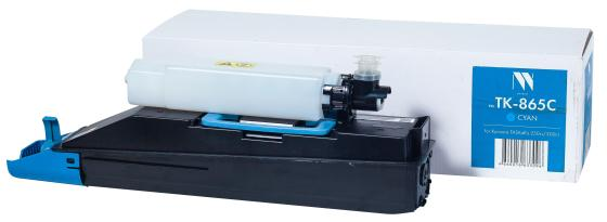 Картридж NVP совместимый NV-TK-865 Cyan для Kyocera TASKalfa 250ci/300ci (12000k) картридж nvp совместимый nv tk 8305 yellow для kyocera taskalfa 3050 taskalfa 3051 taskalfa 3550 taskalfa 3551 15000k