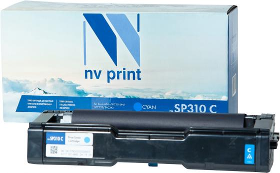 Картридж NVP совместимый NV-SP310 Cyan для Ricoh Aficio SPC231DN/SPC232/SPC242 (2500k) картриджnvp совместимый nv mpc3503 yellow для ricoh aficio mpc3003 mpc3004 mpc3503 mpc3504 18000k