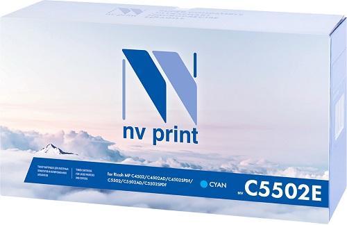Фото - Тонер-картридж NV-Print MPC5502EC для Ricoh Aficio MP C4502 C4502AD C4502SPDF Aficio MP C5502 C5502AD C5502SPDF 22500стр Голубой картридж nvp совместимый nv mp3354 для ricoh aficio mp 2554 mp 3054 24000k