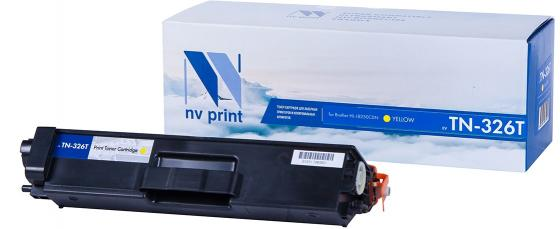 Картридж NV-Print TN-326T для Brother HL-L8250CDN 4000стр Желтый картридж nv print tn 2085 для brother hl 2035 1500k