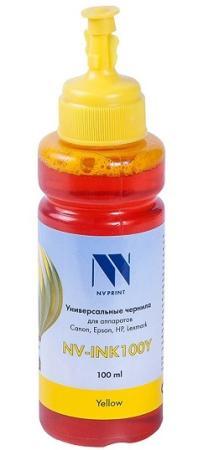 Фото - Чернила NV-INK100 Yellow универсальные на водной основе для аппаратов HP (100 ml) (Китай) стиральный порошок miyoshi miyosh на основе натуральных компонентов 100707