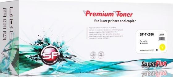 Фото - Картридж SuperFine SF-TK580Y для Kyocera FS-C5150DN 2800стр Желтый картридж superfine sf tk8325k для kyocera taskalfa 2551 18000стр черный