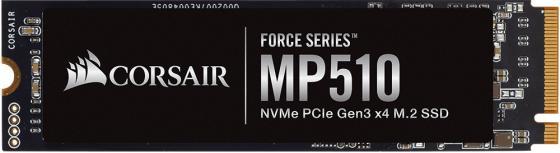 Фото - M.2 2280 960GB Corsair MP510 Client SSD CSSD-F960GBMP510B PCIe Gen3x4 with NVMe, 3480/3000, IOPS 280/700K, MTBF 1.8M, 3D TLC, 720TBW, 0.41DWPD, Heatsink, RTL внутренний ssd накопитель 4096gb corsair force mp600 core cssd f4000gbmp600cor m 2 2280 pcie nvme 4 0 x4