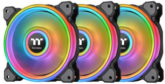 Riing Quad 12 RGB Radiator Fan TT Premium Edition 3 Pack [CL-F088-PL12SW-A] Thermaltake водяное охлаждение thermaltake floe riing rgb 280 tt premium edition cl w167 pl14sw a