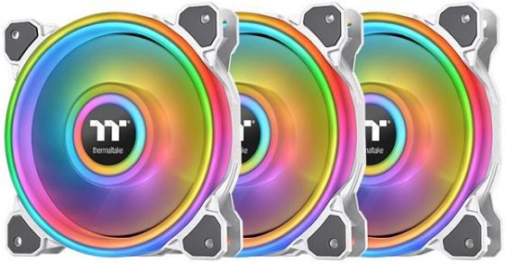 Riing Quad 14 RGB Radiator Fan White TT Premium Edition 3Pack [CL-F101-PL14SW-A] Thermaltake водяное охлаждение thermaltake floe riing rgb 280 tt premium edition cl w167 pl14sw a