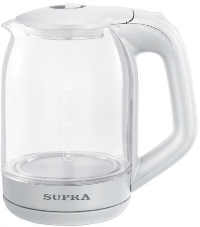 Фото - Чайник электрический Supra KES-1893 1.8л. 1500Вт белый (корпус: стекло) чайник электрический supra kes 1893 1500вт белый