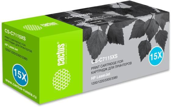 Фото - Картридж лазерный Cactus CS-C7115XS черный (3500стр.) для HP LJ 1200/1220/3300/3380 картридж cactus csp q2613a для laserjet 1300 3500стр