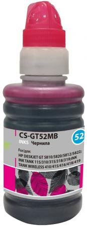 Фото - Чернила Cactus CS-GT52MB пурпурный100мл для HP DeskJet GT 5810/5820/5812/5822 чернила краска для заправки принтера hp deskjet 6843 набор оптима