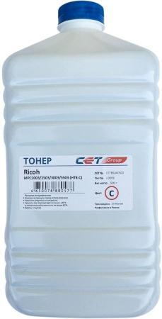 Фото - Тонер Cet HT8-C CET8524C500 голубой бутылка 500гр. для принтера RICOH MPC2003/2503/3003/5503 тонер cet ht8 y cet8524y500 желтый бутылка 500гр для принтера ricoh mpc2003 2503 3003 5503