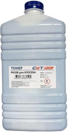 Фото - Тонер Cet PK208 OSP0208C-500 голубой бутылка 500гр. для принтера Kyocera Ecosys M5521cdn/M5526cdw/P5021cdn/P5026cdn printio бутылка металлическая 500 мл вечно молодой