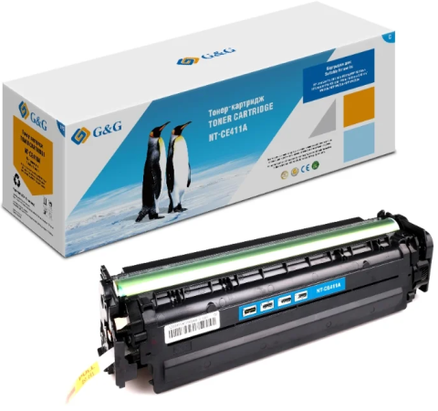 Картридж лазерный G&G NT-CE411A голубой (2600стр.) для HP LJ Pro 300 color M351a/MFP M375nw;Pro 400 color Printer M451nw/MFP M475d/ 90% new original q7829 67912 adf input tray assy lj m5035 m5025 series printer part on sale
