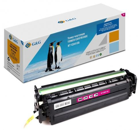 Картридж лазерный G&G NT-CE413A пурпурный (2600стр.) для HP LJ Pro 300 color M351a/MFP M375nw;Pro 400 color Printer M451nw/MFP M475d/ 90% new original q7829 67912 adf input tray assy lj m5035 m5025 series printer part on sale