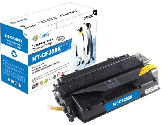 Фото - Картридж лазерный G&G NT-CF280X черный (6900стр.) для HP LJ P2035/P2055d/Pro 400 M401/MFP M425 картридж sonnen sh cf280x для hp laserjet pro m401 laserjet pro m425 6500стр черный