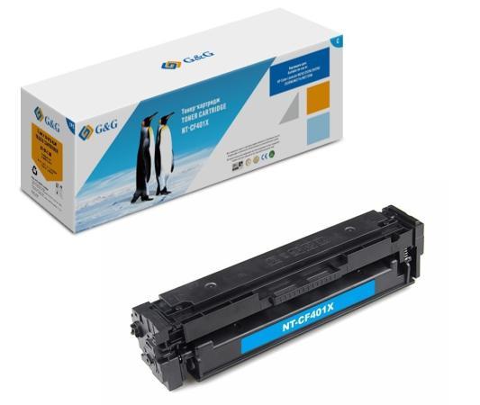 Фото - Картридж лазерный G&G NT-CF401X голубой (2300стр.) для HP  HP Color LaserJet M252/252N/252DN/252DW/M277n/M277DW тонер картридж cactus cs cf401a голубой для hp clj m252 252n 252dn 252dw m277n m277dw 1400стр