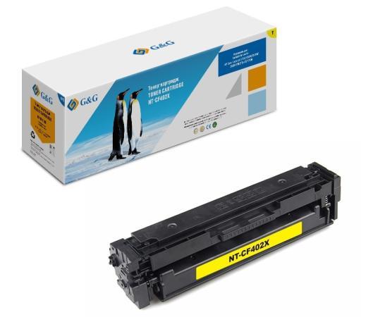 Фото - Картридж лазерный G&G NT-CF402X желтый (2300стр.) для HP HP Color LaserJet M252/252N/252DN/252DW/M277n/M277DW тонер картридж cactus cs cf401a голубой для hp clj m252 252n 252dn 252dw m277n m277dw 1400стр