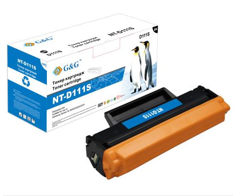 Фото - Картридж лазерный G&G NT-D111S черный (1000стр.) для Samsung Samsung Xpress SL-M2020/2022/2070 картридж profiline pl mlt d111s для samsung xpress sl m2020 2022 2070 1000стр