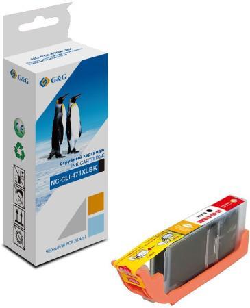 Фото - Картридж G&G NC-CLI-471XLBK для Canon PIXMA TS5040 PIXMA MG5740 PIXMA MG6840 PIXMA MG7740 810стр Черный картридж superfine cli 8bk для canon pixma ip3300 pixma ip4200 450стр черный
