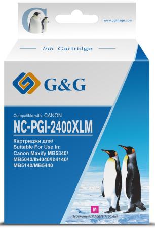 Фото - Картридж струйный G&G NC-PGI-2400XLM PGI-2400XL M пурпурный (20.4мл) для Canon MAXIFY iB4040/ МВ5040/ МВ5340 картридж canon pgi 2400c xl 9274b001 для canon ib4040 мв5040 5340 голубой