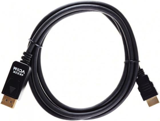 Фото - Кабель HDMI DisplayPort 1.8м VCOM Telecom CG608-1.8M круглый черный кабель dvi displayport 1 8м vcom telecom ta668 1 8m круглый черный