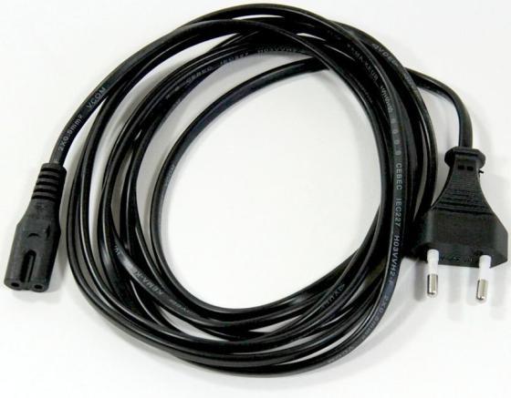 Фото - Кабель для аудио-видео техники IEC-320-C7 -- розетка EU, 2-pin <VDE>, VCOM <CE023-CU0.5-3>, 3,0m кабель hama 00029167 iec c7 2 pin евровилка 1 5м черный