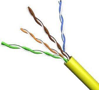 Кабель UTP 4 пары кат.5е (бухта 305м), желтый VCOM <VNC1100-YE> кабель telecom ultra utp 4 пары кат 5е бухта 100м p n tus44148e