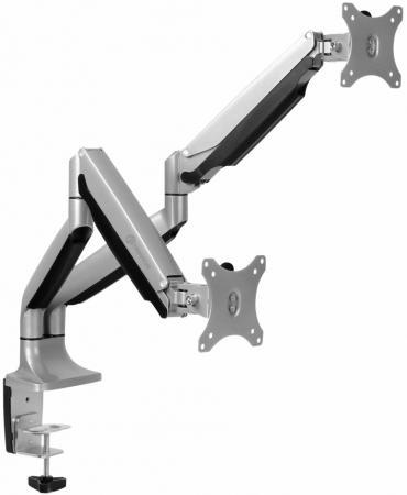 Фото - Кронштейн для мониторов Onkron G200 серебристый 13-32 макс.18кг настольный поворот и наклон верт.перемещ. кронштейн для мониторов onkron d121e черный 10 32 макс 8кг настольный поворот и наклон