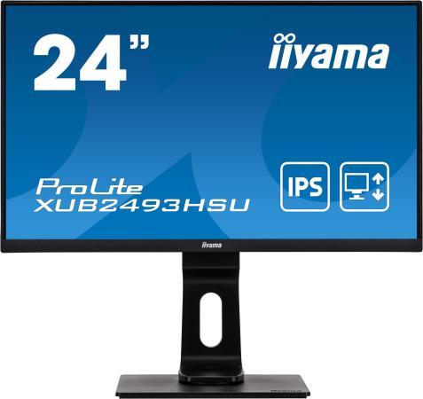 Монитор Iiyama 23.8 ProLite XUB2493HSU-B1 черный IPS LED 16:9 HDMI M/M матовая HAS Pivot 250cd 178гр/178гр 1920x1080 D-Sub DisplayPort FHD 4.8кг монитор iiyama xub2493hsu b1