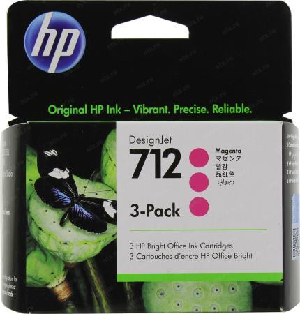 Фото - Картридж струйный HP 712 3ED78A пурпурный x3упак. (29мл) для HP DJ Т230/630 картридж струйный cactus cs c9426 85 пурпурный для hp dj 30 130 29мл