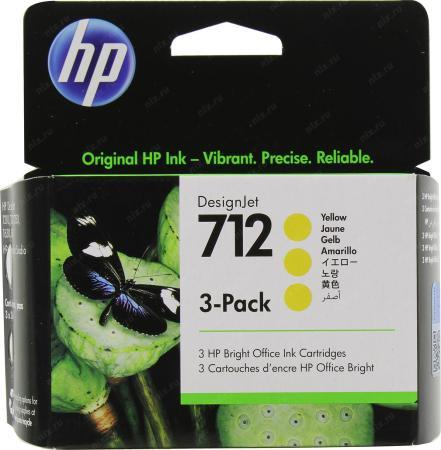 Фото - Картридж струйный HP 712 3ED79A желтый x3упак. (29мл) для HP DJ Т230/630 картридж струйный hp 728 f9k15a желтый 300мл для hp dj t730 t830
