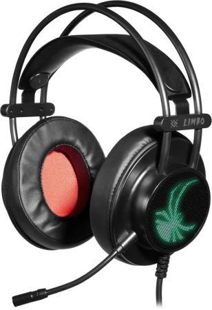 Фото - Игровая гарнитура проводная Defender Limbo черный 64560 игровая